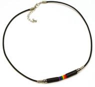 Sweet Style Gay Pride RainbowBlack Bead Wristlet Necklace - Gay & Lesbian LGBT Pride