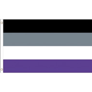 Asexual Pride - 3 x 5 Polyester Flag LGBT Parade Flags. 3 by 5 feet long