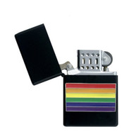 Black Center Rainbow Gay Pride Lighter LGBT Gay and Lesbian - Popular in Gay Pride Products