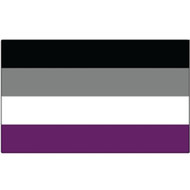 Asexual Flag Pride - Rectangle Car Bumper Sticker (3x5 inches)