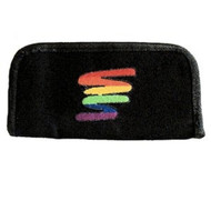 Black Canvas Clutch Wallet with Rainbow Squiggle - LGBT Gay and Lesbian