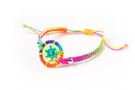 Lesbian and Gay Pride Rainbow Dream Catcher Wristlet Bracelet. LGBT Jewelry and accessories
