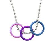 Bi Pride Freedom Rings Necklace - Bisexual LGBT Pride Chain