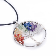 Rainbow Tree of Life Spiritual Pendant - LGBT Gay and Lesbian Pride Necklace