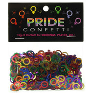 Lesbian Female Symbol Rainbow Colored Party Confetti (Metallic) - LGBT Lesbian Pride Party Supplies