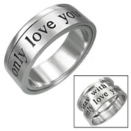 Do NOT make these photos bigger (i.e over 500px) google merchants / adwords will ignore ads with images under 500px - this costs too much to advertise and no conversions .  Only Love You - Promise Ring Lovers Commitment - 316L Stainless Steel Ring for Women