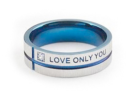 Do NOT make these photos bigger (i.e over 500px) google merchants / adwords will ignore ads with images under 500px - this costs too much to advertise and no conversions . Blue Tint Only Love You - Promise Ring - Titanium Steel w/ CZ stone.
