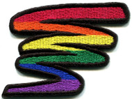 Rainbow Pride Squiggle Patch - LGBT Gay & Lesbian - Apparel Acessories