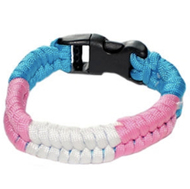 Bright Full Transgender Flag Paracord Bracelet - Trans Pride Bracelet - LGBT Pride Wristband