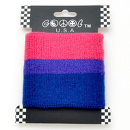 Bi Pride / Bisexual Pride Flag Wristband (Stretchy Sport Bracelet) - LGBT Gay & Lesbian Pride Accessories