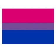 "Bisexual / Bi Pride Flag Sticker for Car (2x3"" Rectangle Bumper Sticker Decal)"