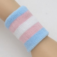 Trans Pride / Transgender Pride Flag Wristband (One Stretchy Sport Bracelet) - LGBT Gay & Lesbian Pride Accessories