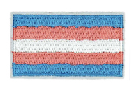 "Transgender Flag Patch Iron On - Trans Pride 3"" x 2"" Patch - LGBT Gay & Lesbian - Apparel Accessories"