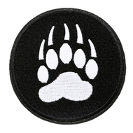 "Bear Pride / Bear Paw Patch Iron On - Gay Bear Pride 3"" Patch Round -  LGBT Gay - Apparel Accessories"