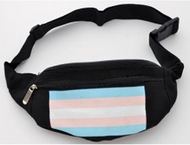 Black Fanny Pack (Transgender Flag) - Trans Pride - LGBT Gay & Lesbian Pride Gifts and Accessories