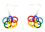 LGBT Pride Rainbow Inter Looped Dangle Earrings - Gay and Lesbian Pride Earrings - Gay earring Set