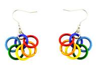 LGBT Pride Rainbow Inter Looped Dangle Earrings - Gay and Lesbian Pride Earrings - Gay earring Set