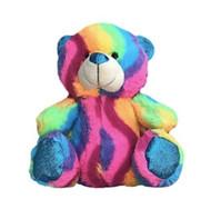 "11"" Inch Tall Plush Wave Rainbow Teddy Bear - LGBT Gifts - Lesbian and Gay Gift"