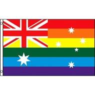Gay Flag Australia - 3 x 5 Polyester Australian Pride Rainbow Flag / Gay Flag