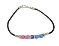 Bi Pride Plain Bead Wristlet Bracelet - Bisexual LGBT Pride Jewelry