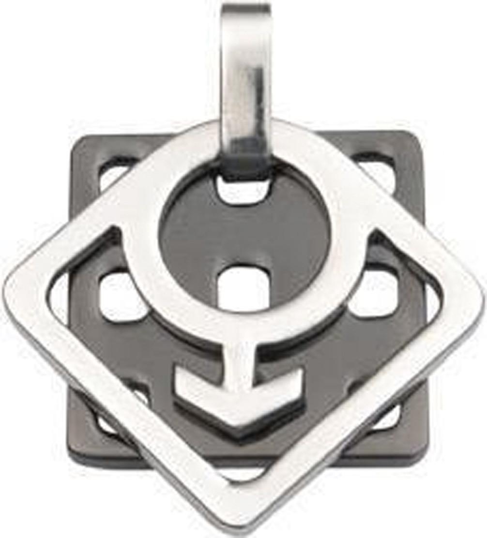 Honey Comb - Steel & Titanium Male Symbol Gay Pride Pendant - Gay Pride Necklace