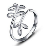 Vine Ring - Adjustable - One Size Fits All (.925 Sterling Silver Electroplated Ring)