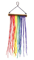 GLBT - Gay Pride Rainbow String Dangler Gay Flag - Great for car or indoor/outdoors!