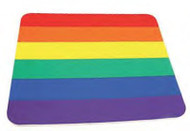 Gay Pride Flag - Rainbow Square Computer Mousepad - Gay and Lesbian LGBT