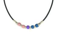 Bi Pride Plain Bead Necklace - Bisexual LGBT Pride Chain