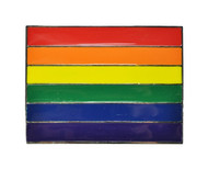 Rainbow Rectangular Belt Buckle - LGBT Gay & Lesbian Pride