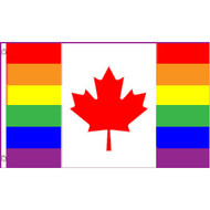 Gay Pride Flag Canada - Canadian Pride Rainbow Flag 3 x 5 Polyester Gay Flag