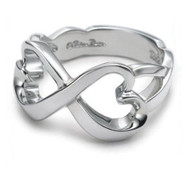 Infinity - (Heart Knots) Love & Commitment Ring (.925 Sterling Silver Electroplated Ring)