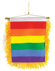 Gay Pride Rear View Mirror Banner Flag - Rainbow Car Pride Flag
