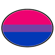 Bisexual Flag - LGBT Bi Pride - Oval Car Magnet