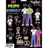 LGBT Gay & Lesbian Family Pride Car Sticker / Gay Pride Decals