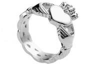 Ladies Claddagh Irish Celtic Ring - Heart & Crown - Top Quality Steel Lovers Ring