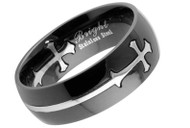 Black Celtic Cross Ring - Top Quality 316L Stainless Steel Band