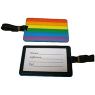 One (1) Rainbow Pride 4 x 3 inch Luggage Tag - LGBT Gay & Lesbian - Travel Accessories