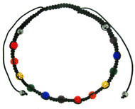 Beaded Rainbow Adjustable Necklace - Gay and Lesbian LGBT Pride Necklaces
