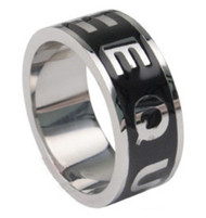 Equality Ring - Black Enamel & Stainless Steel - Gay and Lesbian Pride LGBT