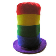 Rainbow Gay Parade Pipe Hat - LGBT Gay and Lesbian Pride Cap