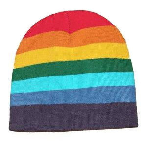 Rainbow Beanie Hat - LGBT Gay and Lesbian Pride Cap. Gay and Lesbian ... 463a1490d97