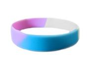 Transgender Pride Silicone Bracelet Wristlet - LGBT Pride Wristband w/ Transgender Flag Colors