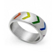 Gay Rainbow Tire Style Ring - Gay and Lesbian Pride