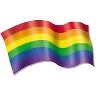 Rainbow Pride LGBT Gay and Lesbian - Wave Gay Flag Sticker Decal