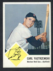 1963 Fleer Baseball # 008  Carl Yastrzemski Boston Red Sox EX/MT