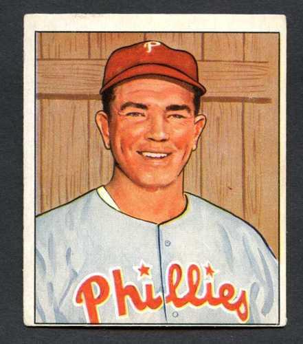 1950 Bowman Baseball 067 Willie Jones Philadelphia Phillies Vg