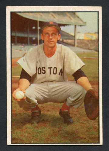 1953 Bowman Color Baseball 041 Sammy White Boston Red Sox Vg