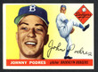 1955 Topps Baseball # 025  Johnny Podres Brooklyn Dodgers EX