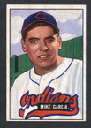 1951 Bowman Baseball # 150  Mike Garcia Cleveland Indians EX
